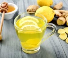 Напиток из имбиря меда и лимона
