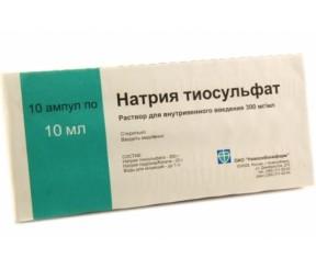 Положительные действия тиосульфата натрия