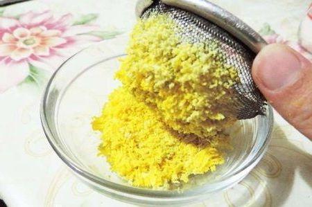 измельченный желток