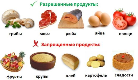 разнообразие продуктов на диете