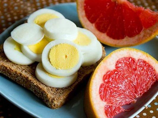 цитрусовые и яйца