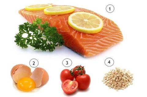 рыба томат яйца