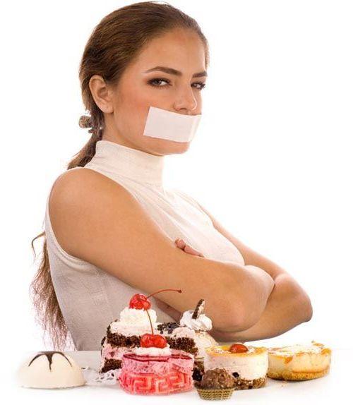 заклеить рот и не есть сладкого