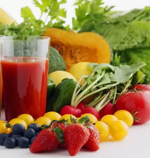 только свежие фрукты и овощи