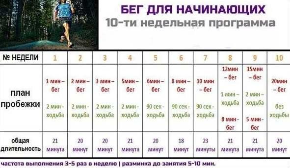 сколько бегать