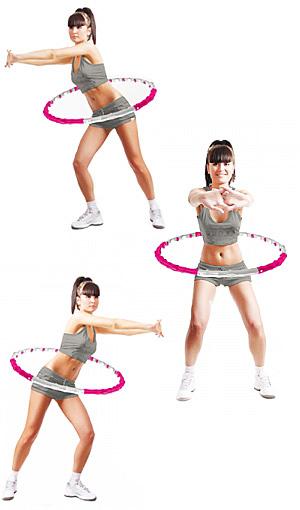 упражнения с обручем с поворотом