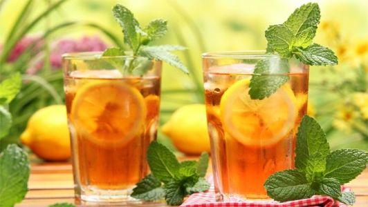 напиток из имбиря с мятой