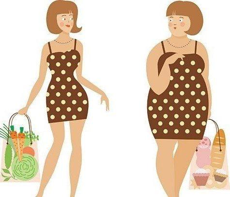 толстая и худая фигура