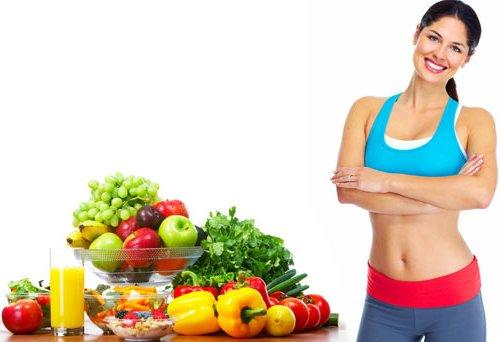 на фруктах и овощах