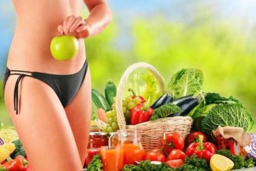 похудела на фруктах и овощах
