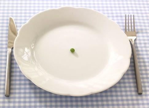 горошина в тарелке