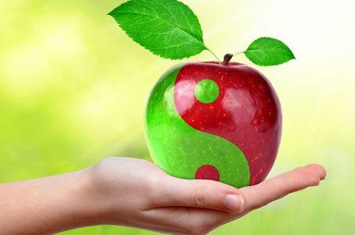 яблоко пополам