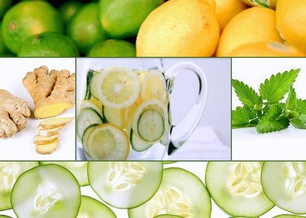 лимон огурец мята имбирь