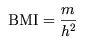 формула индекса тела
