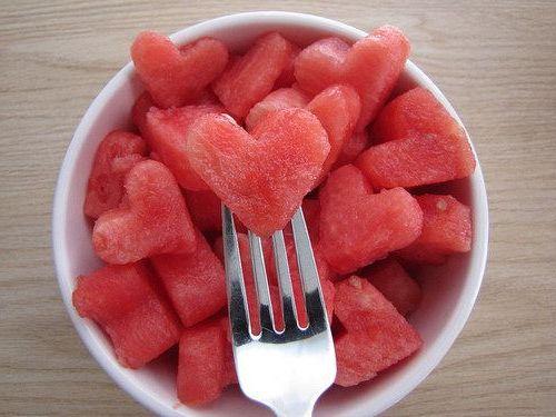арбузные сердечки