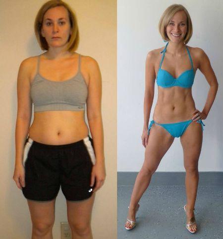 результаты похудения от пояса